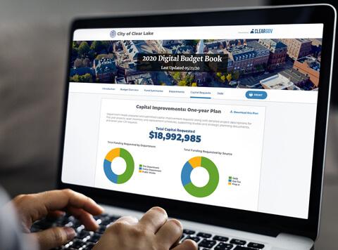 Digital Budget Book Screen
