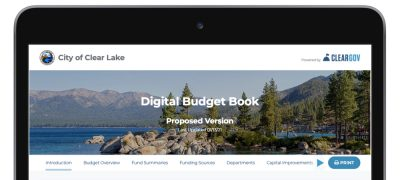 ClearGov Digital Budget Book