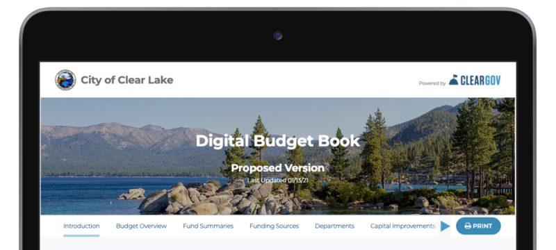 ClearGov Digital Budget Book